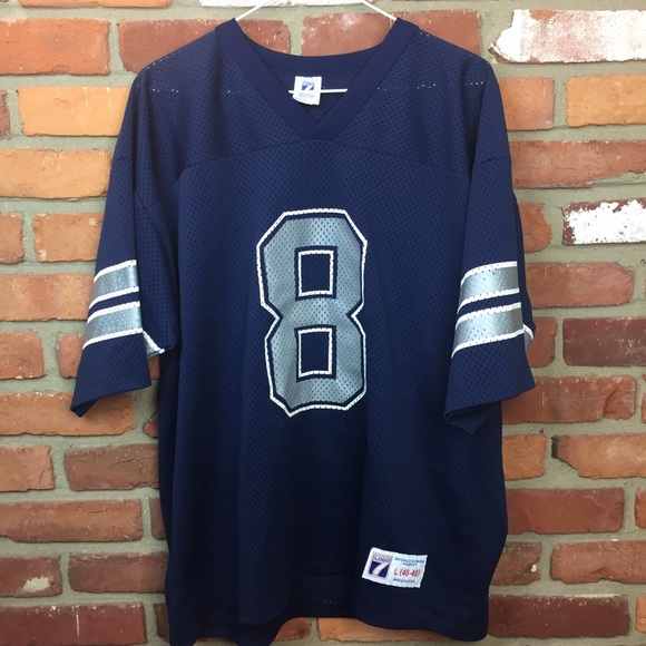 sneakers for cheap 598a3 98aec Vintage 1995 Dallas cowboys aikman jersey logo 7 L